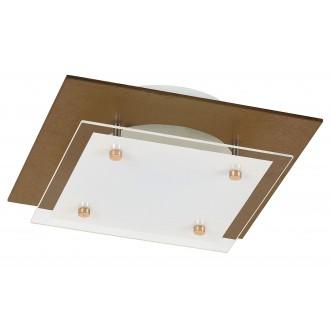 RABALUX 3028 | Janine Rabalux stropné svietidlo 1x LED 1920lm 3000K jantárové, biela