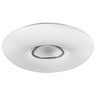 RABALUX 3328 | Tayla Rabalux stropné svietidlo kruhový diaľkový ovládač regulovateľná intenzita svetla, nastaviteľná farebná teplota 1x LED 4200lm 3000 <-> 6500K biela, chróm, kryštálový efekt