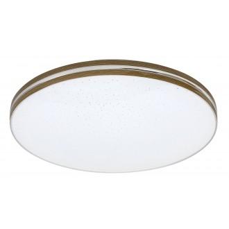 RABALUX 3345 | Oscar_RA Rabalux stropné svietidlo kruhový 1x LED 1350lm 3000K orech, biela, lesklé