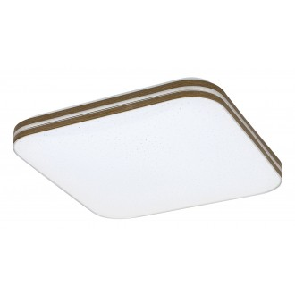 RABALUX 3346 | Oscar_RA Rabalux stropné svietidlo štvorec 1x LED 1350lm 3000K orech, biela, lesklé