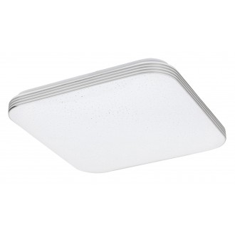 RABALUX 3348 | Oscar_RA Rabalux stropné svietidlo štvorec 1x LED 1350lm 4000K chróm, biela, lesklé