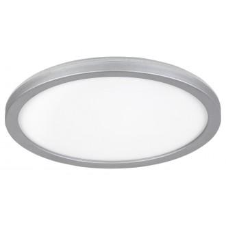 RABALUX 3358 | Lambert Rabalux stropné svietidlo kruhový 1x LED 1500lm 4000K IP44 strieborný, biela