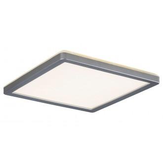 RABALUX 3359 | Lambert Rabalux stropné svietidlo štvorec 1x LED 1500lm 4000K IP44 strieborný, biela