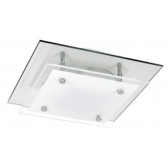 RABALUX 3497 | Janice Rabalux stropné svietidlo štvorec 1x LED 960lm 4000K zrkalový, biela