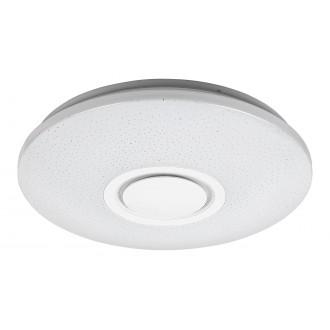 RABALUX 3509 | Rabalux-Smart-Rodion Rabalux stropné múdre osvetlenie kruhový diaľkový ovládač reproduktor, regulovateľná intenzita svetla, meniace farbu, nastaviteľná farebná teplota, Bluetooth, časový spínač, Wifi pripojenie, nočné svetlo 1x LED 1800lm 2