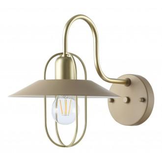 RABALUX 3518 | Nesrin Rabalux rameno stenové svietidlo prepínač 1x E27 zlatý, béž