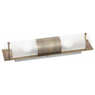 RABALUX 3552 | Periodic Rabalux stenové, stropné svietidlo 2x E14 bronzová, priesvitné, biela