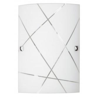 RABALUX 3697 | Phaedra Rabalux stenové svietidlo 1x E27 chróm, biela