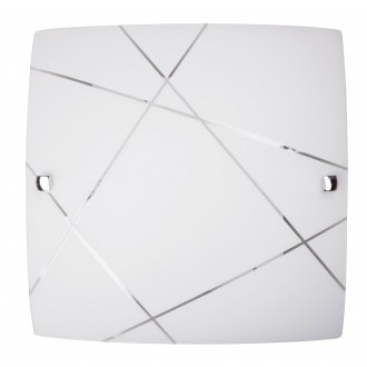 RABALUX 3698 | Phaedra Rabalux stenové, stropné svietidlo 1x E27 chróm, biela