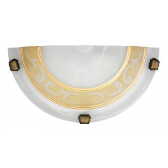RABALUX 3712   Laretta Rabalux stenové svietidlo 1x E27 alabaster, bronzová