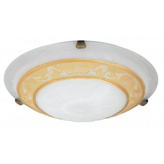 RABALUX 3714 | Laretta Rabalux stenové, stropné svietidlo 2x E27 alabaster, bronzová