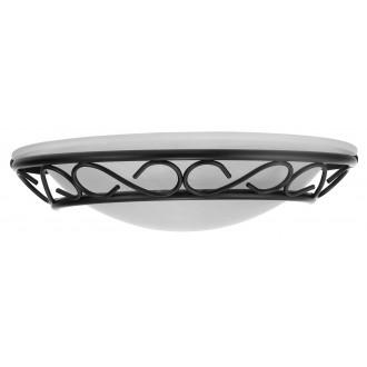 RABALUX 3721 | Athen Rabalux stenové svietidlo 1x E14 čierna, biela alabaster