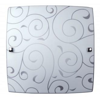 RABALUX 3854 | Harmony-lux1 Rabalux stenové, stropné svietidlo 1x E27 s bielym vzorom, chróm