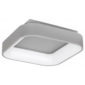 RABALUX 3926 | Adeline Rabalux stropné svietidlo štvorec diaľkový ovládač regulovateľná intenzita svetla, nastaviteľná farebná teplota, Bluetooth, nočné svetlo 1x LED 1800lm 3000 <-> 6000K sivé, biela