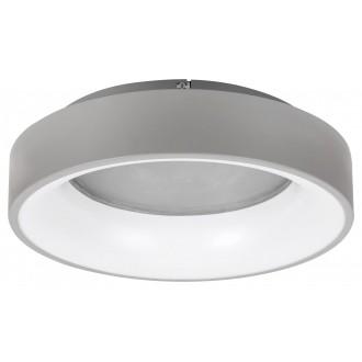 RABALUX 3928 | Adeline Rabalux stropné svietidlo kruhový diaľkový ovládač regulovateľná intenzita svetla, nastaviteľná farebná teplota, Bluetooth, nočné svetlo 1x LED 1500lm 3000 <-> 6000K sivé, biela