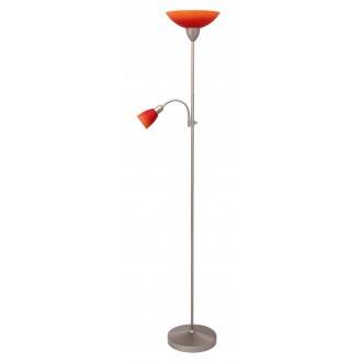 RABALUX 4017   RainbowR Rabalux stojaté svietidlo 177,5cm prepínač na vedení flexibilné 1x E27 + 1x E14 chrom, matné, pomaranč, červená