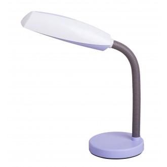 RABALUX 4151 | Dean Rabalux stolové svietidlo 35cm prepínač na vedení flexibilné 1x E27 fialová, biela, sivé