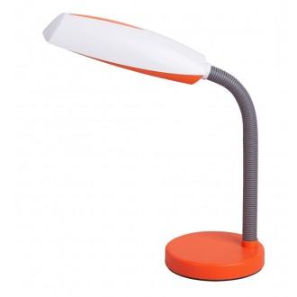 RABALUX 4153 | Dean Rabalux stolové svietidlo 35cm prepínač flexibilné 1x E27 pomaranč, biela, sivé