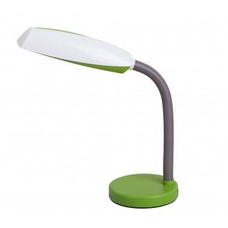 RABALUX 4154 | Dean Rabalux stolové svietidlo 35cm prepínač na vedení flexibilné 1x E27 zelená, biela, sivé