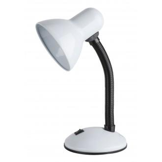RABALUX 4168 | Dylan Rabalux stolové svietidlo 34,5cm prepínač flexibilné 1x E27 biela, čierna