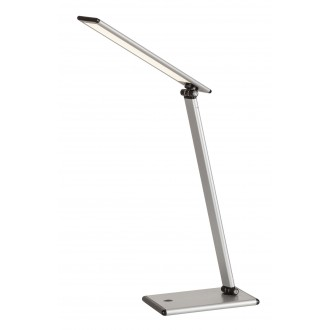 RABALUX 4182 | Brooke Rabalux stolové svietidlo 46cm dotykový prepínač s reguláciou svetla regulovateľná intenzita svetla, otočné prvky 1x LED 480lm 3000K strieborný