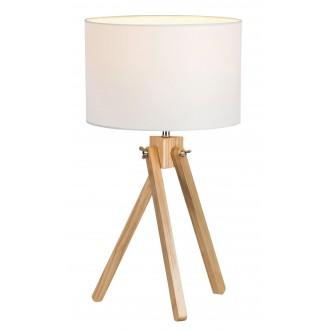 RABALUX 4190 | SorenR Rabalux stolové svietidlo 48cm prepínač na vedení 1x E14 biela, bukové