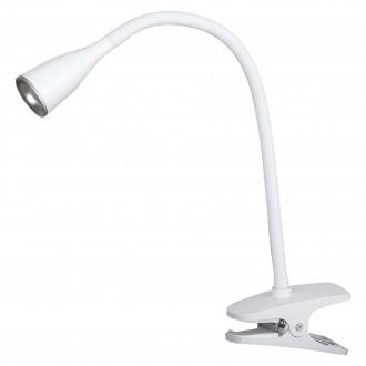 RABALUX 4196 | Jeff Rabalux štipcové svietidlo prepínač flexibilné 1x LED 330lm 3000K biela