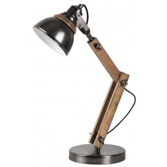 RABALUX 4199 | Aksel Rabalux stolové svietidlo 47,5cm prepínač na vedení otočné prvky 1x E14 bukové, čierna