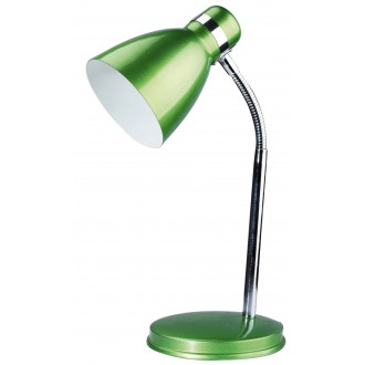 RABALUX 4208 | Patric Rabalux stolové svietidlo 32cm prepínač na vedení flexibilné 1x E14 zelená, chróm