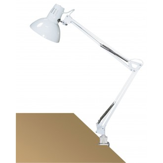 RABALUX 4214 | Arno Rabalux zverákové svietidlo prepínač na vedení otočné prvky 1x E27 biela