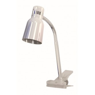 RABALUX 4291 | Color Rabalux štipcové svietidlo prepínač na vedení flexibilné 1x E14 biela, chróm