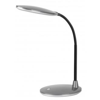 RABALUX 4297 | Oliver Rabalux stolové svietidlo 38cm prepínač flexibilné 1x LED 350lm 6400K strieborný, čierna