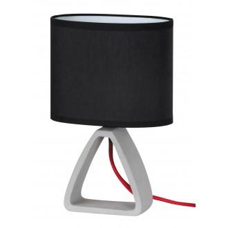 RABALUX 4338 | HenryR Rabalux stolové svietidlo 27cm prepínač na vedení 1x E14 betón, čierna, červená