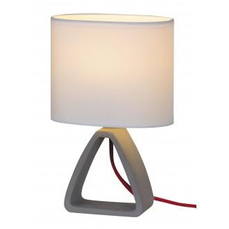 RABALUX 4339 | HenryR Rabalux stolové svietidlo 27cm prepínač na vedení 1x E14 betón, biela, červená