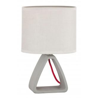 RABALUX 4340 | HenryR Rabalux stolové svietidlo 27cm prepínač na vedení 1x E14 betón, sivé, červená