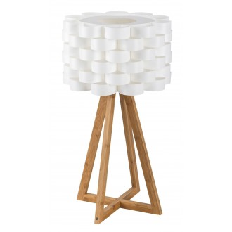 RABALUX 4345   Andy Rabalux stolové svietidlo 55cm prepínač na vedení 1x E14 hnedá, biela