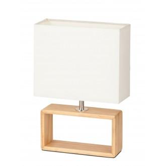 RABALUX 4377 | Freya Rabalux stolové svietidlo 30cm prepínač na vedení 1x E14 natur, bukové