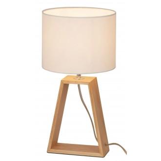 RABALUX 4378 | Freya Rabalux stolové svietidlo 38cm prepínač na vedení 1x E14 natur, bukové