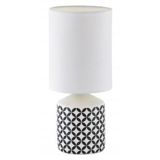 RABALUX 4398 | SophieR Rabalux stolové svietidlo 30cm prepínač na vedení 1x E14 biela, vzorka
