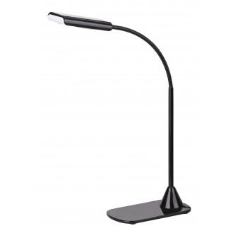 RABALUX 4447 | Edward Rabalux stolové svietidlo 40cm prepínač flexibilné 1x LED 350lm 4500K čierna