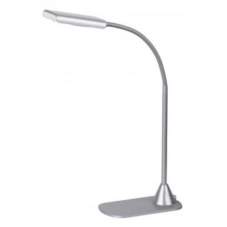 RABALUX 4448 | Edward Rabalux stolové svietidlo 40cm prepínač flexibilné 1x LED 350lm 4500K strieborný