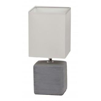 RABALUX 4458 | OrlandoR Rabalux stolové svietidlo 33cm prepínač na vedení 1x E14 sivé, natur