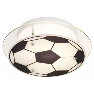 RABALUX 4466 | Frankie-Football Rabalux stenové, stropné svietidlo 1x E27 chróm, čierna, biela