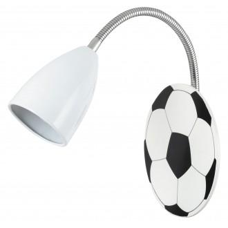 RABALUX 4467 | Frankie-Football Rabalux stenové svietidlo flexibilné 1x E14 chróm, čierna, biela