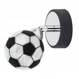 RABALUX 4471 | Frankie-Football Rabalux stenové, stropné svietidlo otočné prvky 1x G9 400lm 4000K chróm, čierna, biela