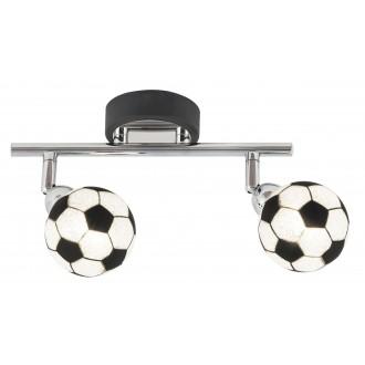 RABALUX 4472 | Frankie-Football Rabalux stenové, stropné svietidlo otočné prvky 2x G9 800lm 4000K chróm, čierna, biela