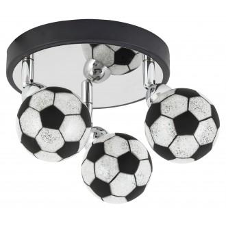 RABALUX 4473 | Frankie-Football Rabalux stenové, stropné svietidlo otočné prvky 3x G9 1200lm 4000K chróm, čierna, biela