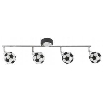 RABALUX 4474 | Frankie-Football Rabalux stenové, stropné svietidlo otočné prvky 4x G9 1600lm 4000K chróm, čierna, biela
