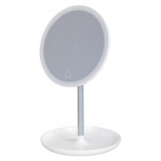 RABALUX 4539 | Misty Rabalux stolové svietidlo 20,3cm dotykový vypínač regulovateľná intenzita svetla, USB prijímač, otočné prvky 1x LED 200lm 6000K biela, zrkalový