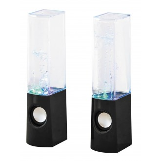 RABALUX 4540 | Xander Rabalux dekor svietidlo reproduktor, meniace farbu, USB prijímač 1x LED RGBK čierna, priesvitné